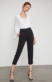 BCBG Pleated Cropped Pant