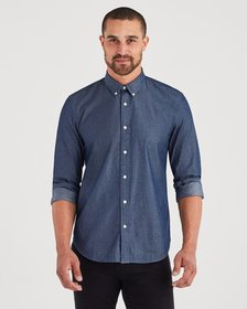 7 For All Mankind Long Sleeve Button Down Collard