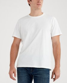 7 For All Mankind Short Sleeve Vintage Tee in Whit