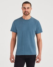 7 For All Mankind Short Sleeve Vintage Tee in Stee