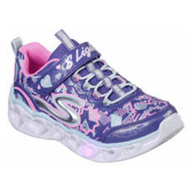 Girls Skechers Heart Lights Sneakers