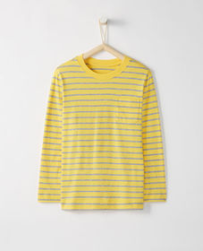 Hanna Andersson Bright Kids Basics Pocket Tee In P