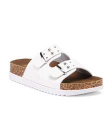 MADDEN GIRL Two Band Footbed Sandals