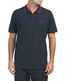 BEN SHERMAN Wine Tipped Polo
