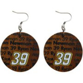 Dayna Pro Ryan Newman Infinity Round Wooden Earrin