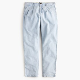 J. Crew Double-pleated pant in indigo chambray