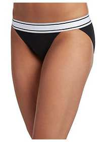 Jockey Retro Stripe String Bikini BLACK