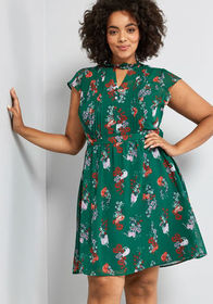 ModCloth ModCloth Oh Say Can Museum A-Line Dress G