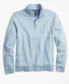 Brooks Brothers French Terry Half-Zip