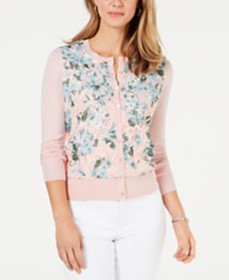 Charter Club Floral-Print Cardigan, Created for Ma