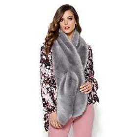 IMAN Platinum Wrap Yourself in Luxury Faux Fur Sca