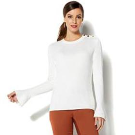 IMAN Global Chic Luxe Signature Subtle Bell Sleeve
