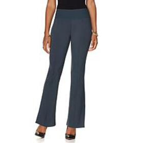 DG2 by Diane Gilman Stretch Ponte Boot-Cut Trouser