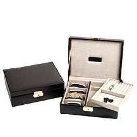 Bey-Berk Leather Watch and Valet Storage Case