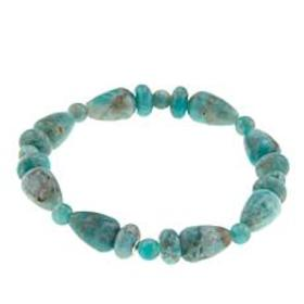 Jay King Smoky Graphical Amazonite Bead Stretch Br