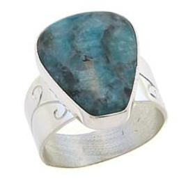 Jay King Smoky Graphical Amazonite Sterling Silver