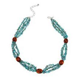Jay King Apatite and Amber Sterling Silver Beaded