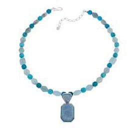 Jay King Aquamarine and Turquoise Sterling Silver