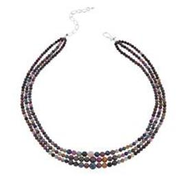 """Jay King 3-Strand Colors of Sapphire 18"""" Sterling"""