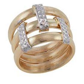 Michael Anthony Jewelry® 10K Gold 2-Tone Stack Sty