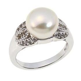 Colleen Lopez Cultured Pearl and White Topaz Sterl
