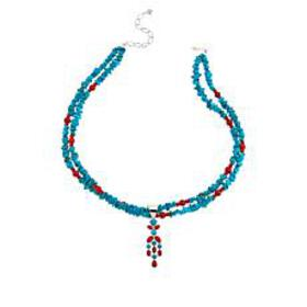 Jay King Andean Blue Turquoise & Red Sea Bamboo Co