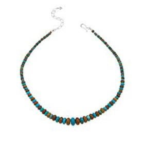 Jay King Blue and Brown Seven Peaks Turquoise Bead