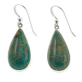 Jay King Alicia Turquoise Pear-Shaped Drop Sterlin