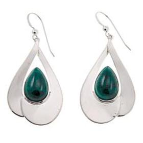 Jay King Pear-Shaped Chrysocolla Drop Sterling Sil