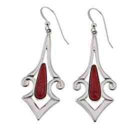 Jay King Contemporary Red Coral Sterling Silver Dr
