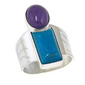Jay King Purple Charoite and Turquoise Sterling Si