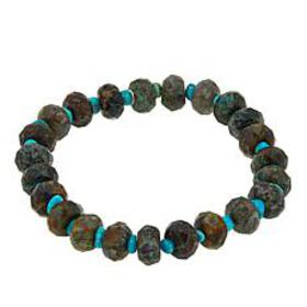 Jay King Green Diopside and Turquoise Bead Stretch