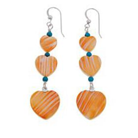 Jay King Turquoise and Orange Spiny Oyster Shell H
