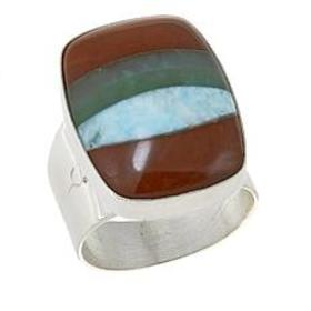 Jay King Multicolored Multigemstone Inlay Sterling