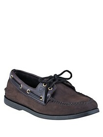 Sperry A O Two-Eye Nucuck Boat Shoes BROWN