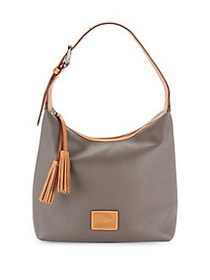 Dooney & Bourke Patterson Leather Paige Hobo TAUPE