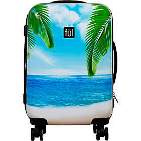 "Ful Printed Tropical Beach 21"" Hardside Carry-On S"