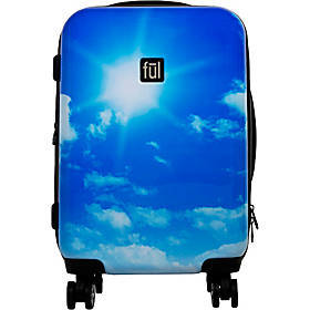 "Ful Printed Blue Sky 21"" Hardside Carry-On Spinner"