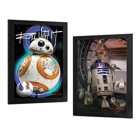 Star Wars: The Last Jedi Droids Framed Wall Art