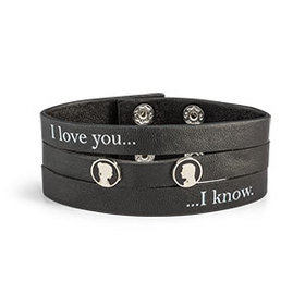 Star Wars I Love You / I Know Faux Leather Bracele