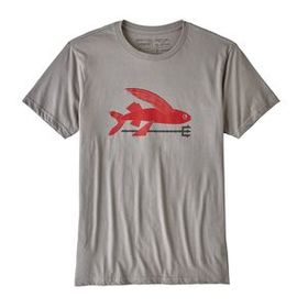 M's Flying Fish Organic T-Shirt, Feather Grey (FEA