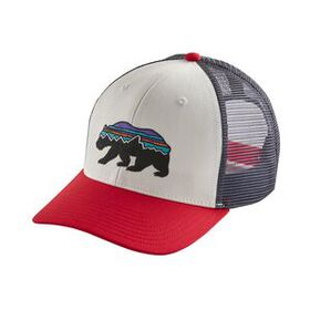 Fitz Roy Bear Trucker Hat, White w/Kastanos Brown