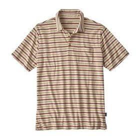 M's Squeaky Clean Polo, Steady Stripe: Kastanos Br
