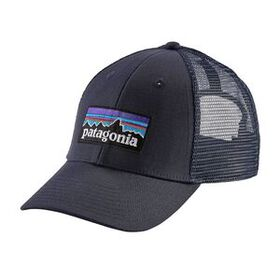 P-6 Logo LoPro Trucker Hat, White w/Kastanos Brown