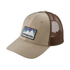 Shop Sticker Patch LoPro Trucker Hat, El Cap Khaki