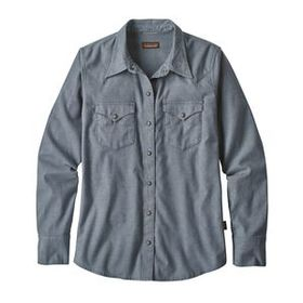 W's Long-Sleeved Western Snap Shirt, Chambray: Dol