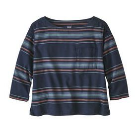 W's Catbells 3/4-Sleeved Top, Mineral Stripe: Navy