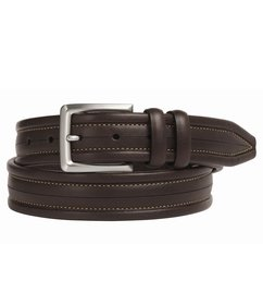 Johnston & Murphy Men's Center Scored Belt