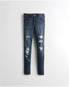 Hollister Classic Stretch Mid-Rise Super Skinny Je