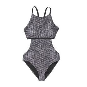 W's One-Piece Nireta Swimsuit, Batik Hex Small: In